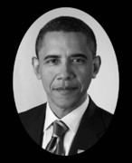 Barack Obama Digital Art Posters - President Barack Obama Poster by War Is Hell Store
