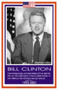 Bill Clinton Prints - President Bill Clinton Print by  BlackMoxi