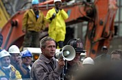 Al-qaeda Framed Prints - President Bush Addresses Rescue Workers Framed Print by Everett