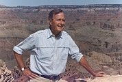 George Herbert Walker Prints - President Bush Hiking On The Kaibab Print by Everett