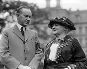 Activist Prints - President Calvin Coolidge And Mother Print by Everett