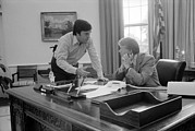 Advisors Prints - President Carter And His Chief Of Staff Print by Everett
