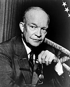 1950s Portraits Posters - President Dwight D. Eisenhower, 1954 Poster by Everett