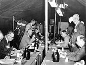 President Eisenhower Participates Print by Everett