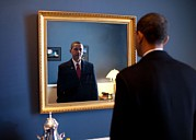 Barack Framed Prints - President-elect Barack Obama Checks Framed Print by Everett