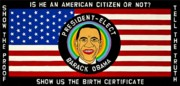 Outsider Art Paintings - President-Elect Barack Obama by MaryAnn Kikerpill