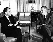 Greek Americans Framed Prints - President-elect Nixon Meets With Vice Framed Print by Everett