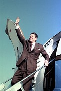 Elect Framed Prints - President-elect Ronald Reagan Waves Framed Print by Everett