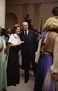 Betty Ford Prints - President Ford And First Lady Betty Print by Everett