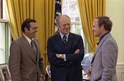 Rumsfeld Posters - President Ford With Perennial Poster by Everett