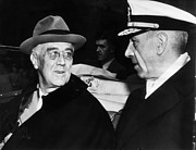 Sailor Hat Posters - President Franklin D. Roosevelt, Meets Poster by Everett