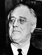 Franklin Delano Roosevelt Framed Prints - President Franklin Delano Roosevelt Framed Print by War Is Hell Store