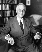 Frail Prints - President Franklin Roosevelt The Day Print by Everett