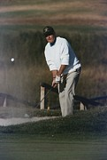 George Herbert Walker Framed Prints - President George Bush Plays Golf Framed Print by Everett