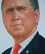 Chief Drawings Originals - President George W. Bush by Gary Kaemmer