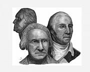 President Washington Drawings - President George Washington by Charles Vogan