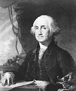 Us Presidents Framed Prints - President George Washington Framed Print by International  Images