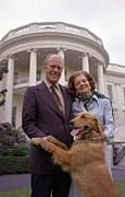 Gerald Ford Posters - President Gerald Ford And Wife Betty Poster by Everett