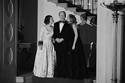 Betty Ford Prints - President Gerald Ford Betty Ford Print by Everett