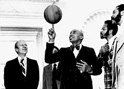 Globetrotters Prints - President Gerald Ford, Enjoys Print by Everett
