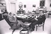 Gerald Ford Posters - President Gerald Ford Meets With Vp Poster by Everett