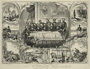 Discrimination Art - President Grant With Group Of Men by Everett