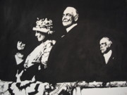 Wives Paintings - President Harding by Robert Cunningham
