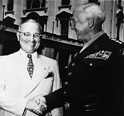 General Patton Posters - President Harry Truman, Shaking Hands Poster by Everett