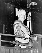 Ww2 Photo Prints - President Harry Truman Print by War Is Hell Store