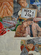 Mitt Paintings - President  Help by Alex Krasky