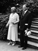 First Lady Acrylic Prints - President Herbert Hoover And First Acrylic Print by Everett