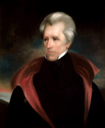 Us Presidents Painting Prints - President Jackson Print by War Is Hell Store