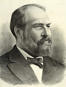 Garfield Prints - President James Garfield Print by International  Images