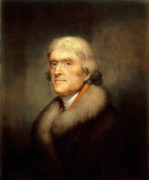 Us Presidents Framed Prints - President Jefferson Framed Print by War Is Hell Store