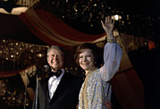 First Lady Acrylic Prints - President Jimmy Carter And First Lady Acrylic Print by Everett
