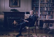 Carter House Prints - President Jimmy Carter At The White Print by Everett