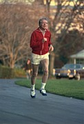 Jogging Posters - President Jimmy Carter Jogging. Nov. 20 Poster by Everett