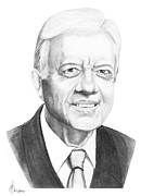 Government Drawings Acrylic Prints - President Jimmy Carter Acrylic Print by Murphy Elliott