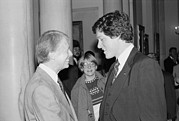 Youthful Photos - President Jimmy Carter With Future by Everett