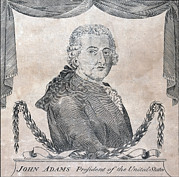 President Adams Framed Prints - President John Adams, Engraving By Amos Framed Print by Everett