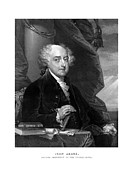 Us Presidents Drawings Framed Prints - President John Adams Framed Print by War Is Hell Store