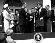 Firsts Posters - President John F. Kennedy Presents Poster by Everett