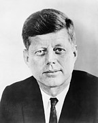World Leaders Metal Prints - President John F. Kennedy Metal Print by War Is Hell Store