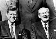 President John Kennedy And British Print by Everett