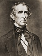 Whigs Framed Prints - President John Tyler 1790-1862 Framed Print by Everett
