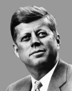 Leaders Metal Prints - President Kennedy Metal Print by War Is Hell Store