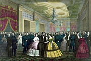 Color Mixed Media Prints - President Lincolns Last Reception Print by War Is Hell Store
