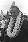 Strategy Posters - President Lyndon Johnson In Hawaii. He Poster by Everett
