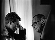 Rfk Photos - President Lyndon Johnson Meeting by Everett