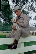 Body Language Posters - President Lyndon Johnson Posing Poster by Everett